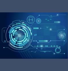 futuristic digital business background vector image vector image