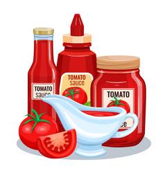 tomato sauce ketchup vector image