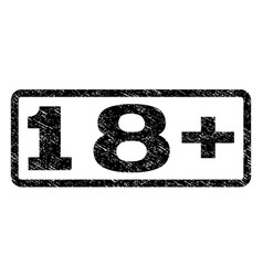 18 plus watermark stamp vector image