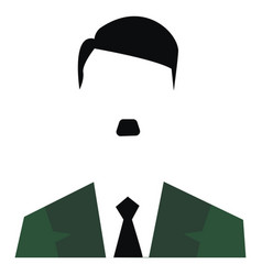 A clipart adolf hitler with his characteristic vector