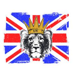 A english royal banner vector