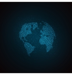 a world globe map vector image