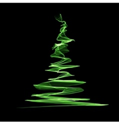 Abstract christmas green tree vector image