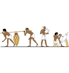 Ancient egypt potters vector