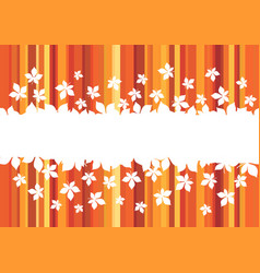 Autumn leaf banner with border of maple foliage vector