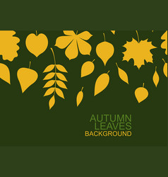 background yellow autumn leaves vector image