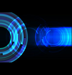 Blue frequency wave with line abstract background vector