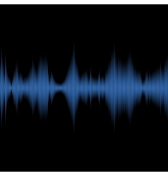 Blue Sound Waves Oscillating Equalizer on Black vector image