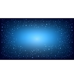 Blue space background vector image