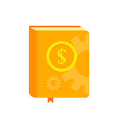 book with symbol of money on the cover best vector image