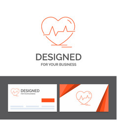 Business logo template for ecg heart heartbeat vector