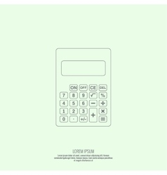 Calculator top view vector