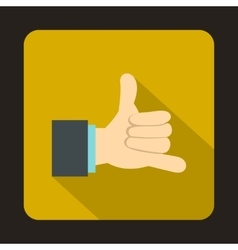 Call me gesture icon in flat style vector