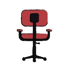 Cartoon chair office comfort workplace design vector