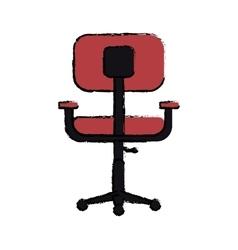 cartoon chair office comfort workplace design vector image