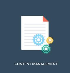 content management vector image