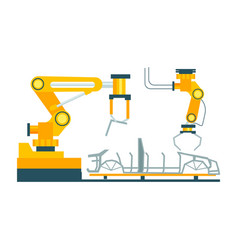 conveyor for assembly of cars element vector image