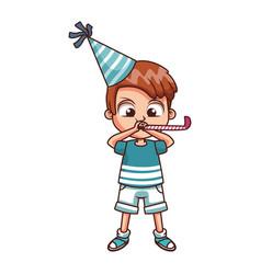 cute boy on birthday vector image