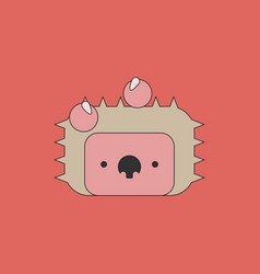 Cute hedgehog isolated on transparent background vector