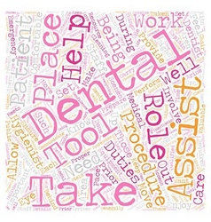 Dental Assistants 1 text background wordcloud vector image