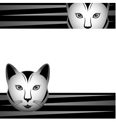 drawn stylized muzzle of cat vector image