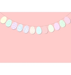 Easter bunting decoration vector