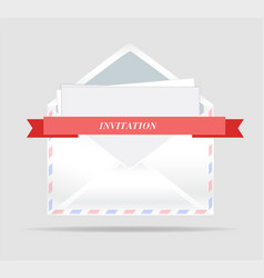 envelope opened envelope with invitation vector image