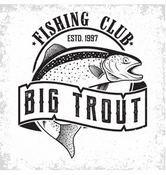 Fishing club logo vector