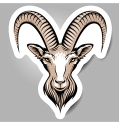 goat sticker vector image