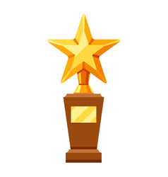 gold prize icon with star vector image