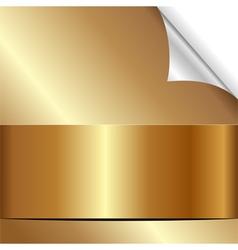 Golden background with bent corner vector