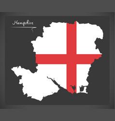 hampshire map england uk with english national vector image