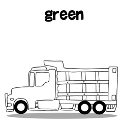 Hand draw of truck collection vector