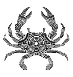 head crab tattoo ornamented with maori style vector image