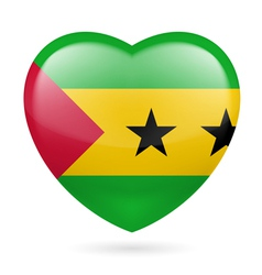 Heart icon of Sao Tome and Principe vector