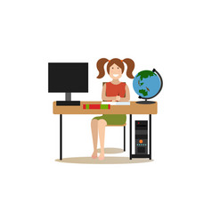 Homework concept in flat style vector