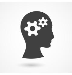 Human head with gears vector