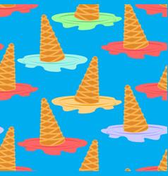 ice cream dropped pattern milk dessert lying on vector image