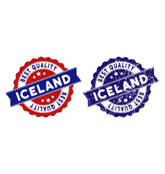 Iceland best quality stamp with dirty style vector