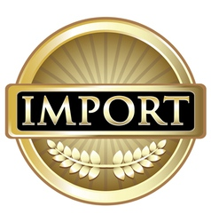 Import Gold Label vector image