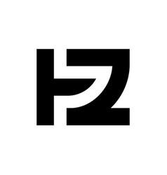 Initial letter hz logo icon design template vector