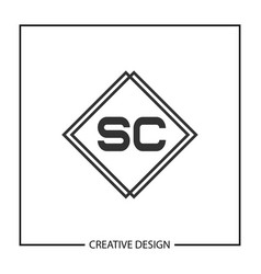 initial letter sc logo template design vector image