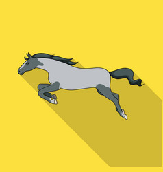 Isolated object horse and gallop icon set of vector