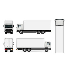 isolated truck on white background vector image
