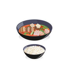 Kimchi soup vector