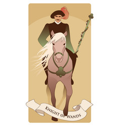 knight dressed in the old style with mustache vector image