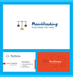 Libra logo design with tagline front and back vector