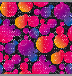 Liquid lava lamp bubbles seamless pattern vector