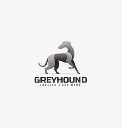 logo grey hound gradient colorful style vector image