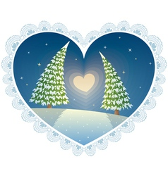 Love trees vector